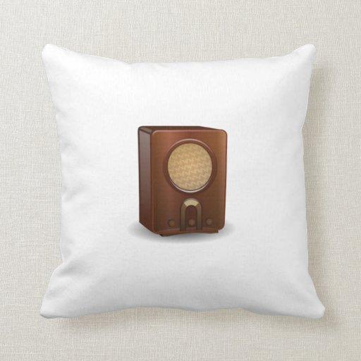 Vintage Radio Throw Pillows