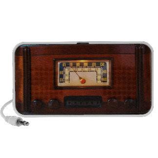 Vintage Radio - Dark Wood Portable Speaker