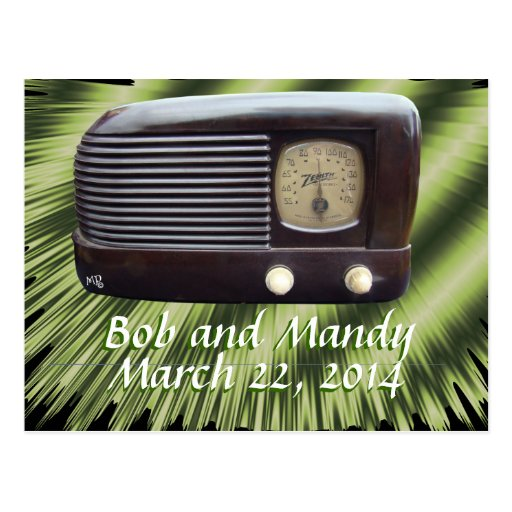 Vintage Radio Invitation-customize Post Card