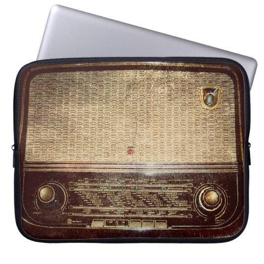 Vintage radio laptop sleeve