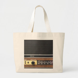 Vintage Radio Large Tote Bag