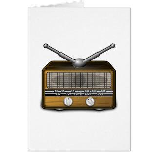 Vintage Radio Note Card