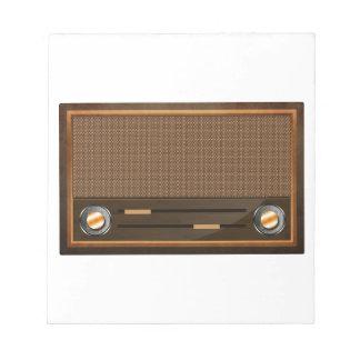 Vintage radio notepads
