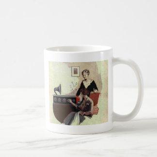 vintage radio paint 1900s mug