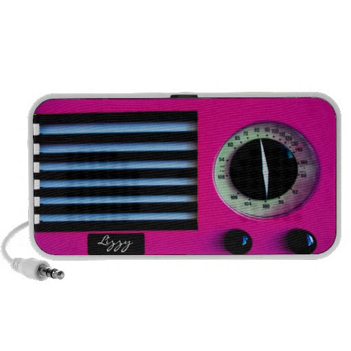 Vintage Radio - Pink Travelling Speakers