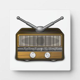 Vintage Radio Display Plaque