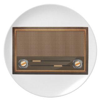 Vintage radio dinner plate