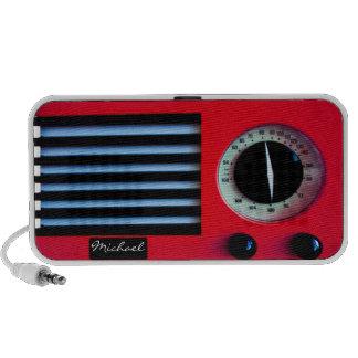 Vintage Radio- Red iPhone Speaker