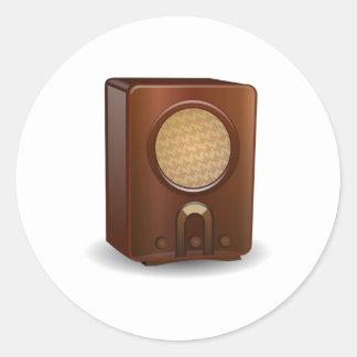 Vintage Radio Round Sticker