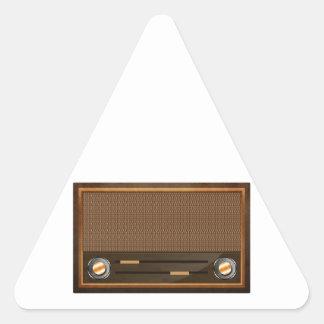 Vintage radio stickers