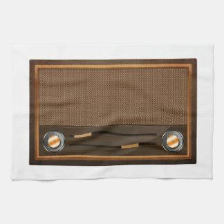 Vintage radio hand towels