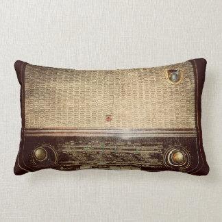 Vintage radio throw cushion
