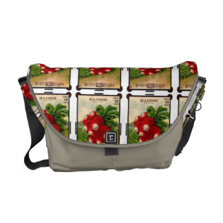Vintage Radishes Messenger Tote 2 Courier Bags