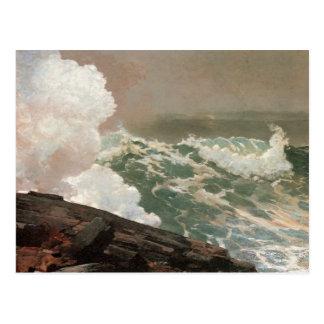 Vintage Raging Ocean Postcard