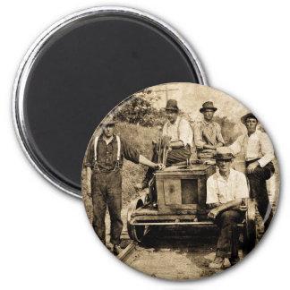 Vintage Rail Crew circa 1890s-1910 Fridge Magnets