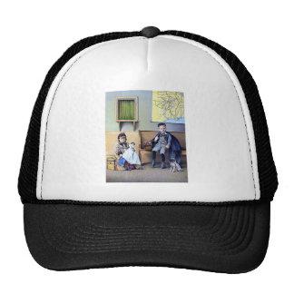 Vintage Railroad Station Boy Girl children dog Mesh Hats