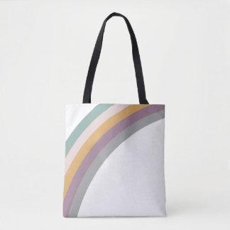 vintage rainbow tote bag