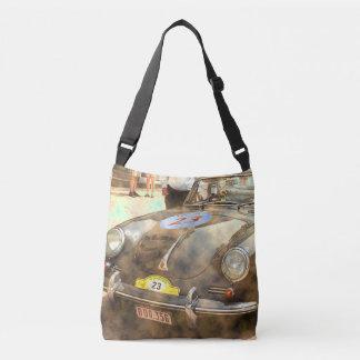Vintage Rally Car Crossbody Bag