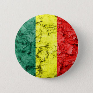 Vintage rasta flag 6 cm round badge