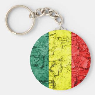 Vintage rasta flag key ring