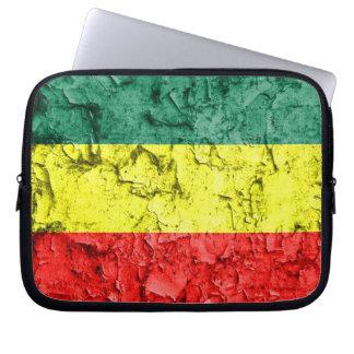 Vintage rasta flag laptop sleeve