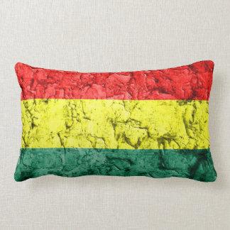Vintage rasta flag lumbar cushion
