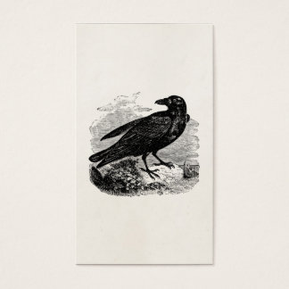 Vintage Raven Black Bird Crow Personalized Birds Business Card