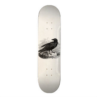 Vintage Raven Black Bird Crow Personalized Birds Custom Skateboard