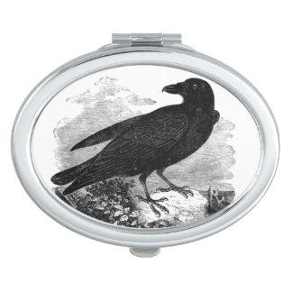 Vintage Raven Compact Mirror
