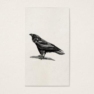 Vintage Raven Crow Blackbird Bird Illustration Business Card