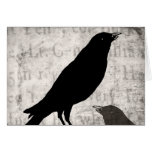 Vintage Raven Goth Collage Customised Birds Crow Note Card