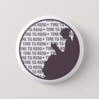 Vintage Reading Lady button for Book lovers