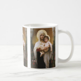 Vintage Realism, Madonna of the Roses, Bouguereau Coffee Mug