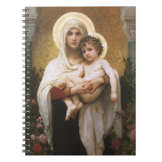 Vintage Realism, Madonna of the Roses, Bouguereau Spiral Notebook