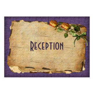 Vintage Reception Enclosure Card - Purple Business Card