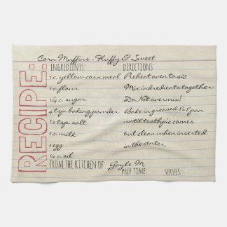 Vintage Recipe Card-Cornbread Recipe-Customize it! Tea Towel