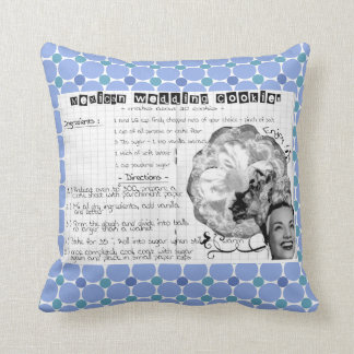 vintage recipe on pillow