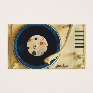 Vintage Record player Business Card