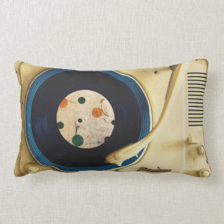 Vintage Record player Lumbar Cushion
