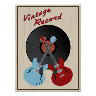Vintage record poster