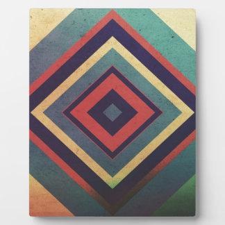 Vintage rectangular colorful plaque