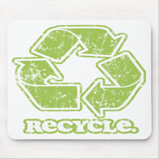 Vintage Recycle Sign Mousepad