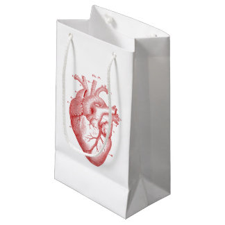 Vintage Red Anatomical Heart - Gift Bag