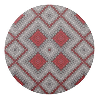 Vintage Red And Gray Geometric Abstract Pattern Eraser