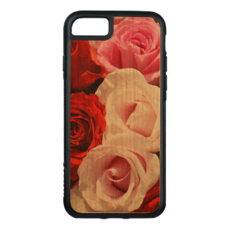 Vintage Red and Pink Roses iPhone 7 Bumper Case
