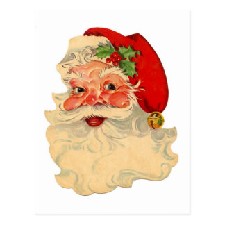 Vintage Red and White Santa Claus Postcard