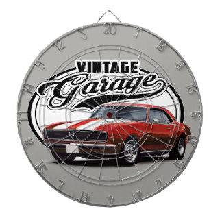 Vintage Red Camaro Dartboard