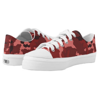 Vintage Red Camouflage... Printed Shoes