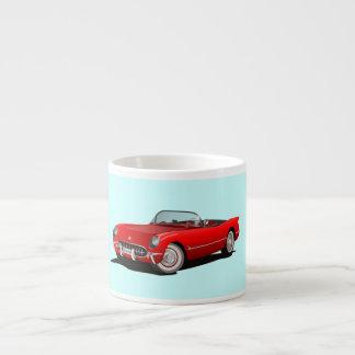 Vintage Red Corvette Espresso Mug