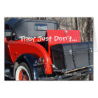 vintage red coupe 1- customise any occasion card